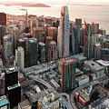 San Francisco Financial District Skyline by David Oppenheimer