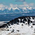 Sangre De Cristo Mountains In Winter by Steve Krull