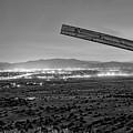 Santa Fe, Nm, From Bonanza Creek Ranch, Illuminated By The Moon, by Mark Goebel