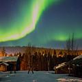 Sapmi Village Under The Northern Lights Karasjok Norway. by Adam Rainoff