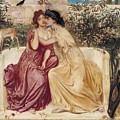 Sappho And Erinna In A Garden At Mytilene by Simeon Solomon