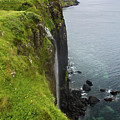 Isle Of Skye Kilt Rock And Mealt Falls by Gregory Dyer