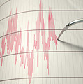 Seismograph Earthquake Activity by Allan Swart