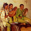 Sharp Joseph Henry Hunting Song Taos Indians Joseph Henry Sharp by Eloisa Mannion