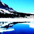 Shiny Snow Magic On Lake by Kumiko Mayer