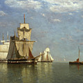 Ships Lying Off Flushing by Paul Jean Clays