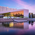 Spokane Washington City Skyline And Convention Center by Alex Grichenko