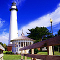 St Simons Island Lighthouse by Thomas R Fletcher