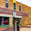 Standing On The Corner - Winslow Arizona by Jon Berghoff