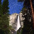 Star Trails At Yosemite Falls by Surjanto Suradji