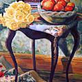 Still Life With Roses by Iliyan Bozhanov