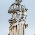 Stone Statue In The Old Town Perast  by Ranko Maras