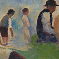 Study For Bathers At Asnieres by PixBreak Art