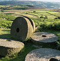 Summer Landscape Image Of Millstones On Top Of Stanage Edge In P by Matthew Gibson