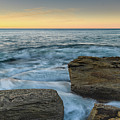 Sunrise On The Rocky Coast by Merrillie Redden
