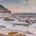 Sunrise Seascape And Headland by Merrillie Redden