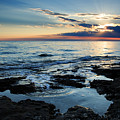 Sunset At Basanija by Ian Middleton