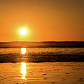Sunset Over The Ocean by Eric Strickland