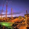Tall Ships And Yahts Moored In Newport Harbor by Alex Grichenko