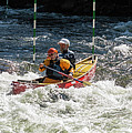 Tandem Whitewater Canoe by Les Palenik
