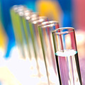 Test Tubes In Science Lab by Olivier Le Queinec