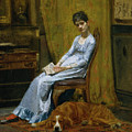 The Artist's Wife And His Setter Dog by Thomas Eakins