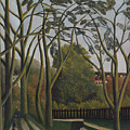 The Banks Of The Bievre Near Bicetre by Henri Rousseau