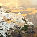 The Golden Hour In Fira by Yinguo Huang