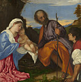 The Holy Family With A Shepherd by Titian