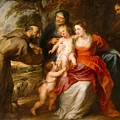 The Holy Family With Saints Francis And Anne And The Infant Saint John The Baptist by Peter Paul Rubens