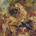 The Lion Hunt by Eugene Delacroix