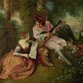 The Scale Of Love by Jean-Antoine Watteau