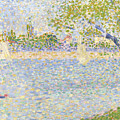 The Seine Seen From La Grande Jatte by PixBreak Art