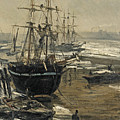 The Thames In Ice by James Abbott McNeill Whistler