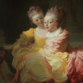 The Two Sisters by Jean Honore Fragonard