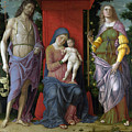 The Virgin And Child With Saints by Andrea Mantegna