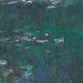 The Water Lilies, Green Reflections by Claude Monet