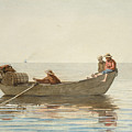 Three Boys In A Dory With Lobster Pots  by Winslow Homer