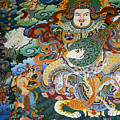 Tibetan Buddhist Mural by Michele Burgess