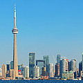 Toronto Skyline In The Day by Songquan Deng