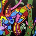 2 Tropical Birds by Anggelyka Apostle
