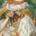 Two Girls Reading by Pierre Auguste Renoir