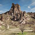 Uchisar Castle In Cappadocia by Aivar Mikko