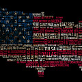 Usa Main Cities Flag Map by Cedric Darrigrand