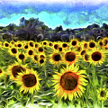 Van Gogh Sunflowers by David Pyatt