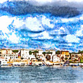 View Of Brindisi From The Ship by Giuseppe Cocco