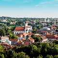 view of downtown in Vilnius city, Lithuanian by Otto