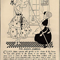 Clean Dainty Curtains Vintage Soap Ad by Anne Kitzman