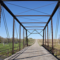 Vintage Steel Girder Bridge by Donald  Erickson