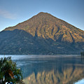 Volcano And Reflection Lake Atitlan Guatemala by Douglas Barnett